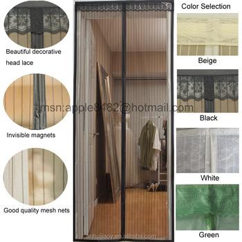 Automatic Closing Magnetic Door Screen Anti Mosquito Mesh Door Curtain