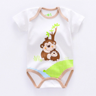 Newborn knit baby clothes wholesale boutique cute cotton baby rompers