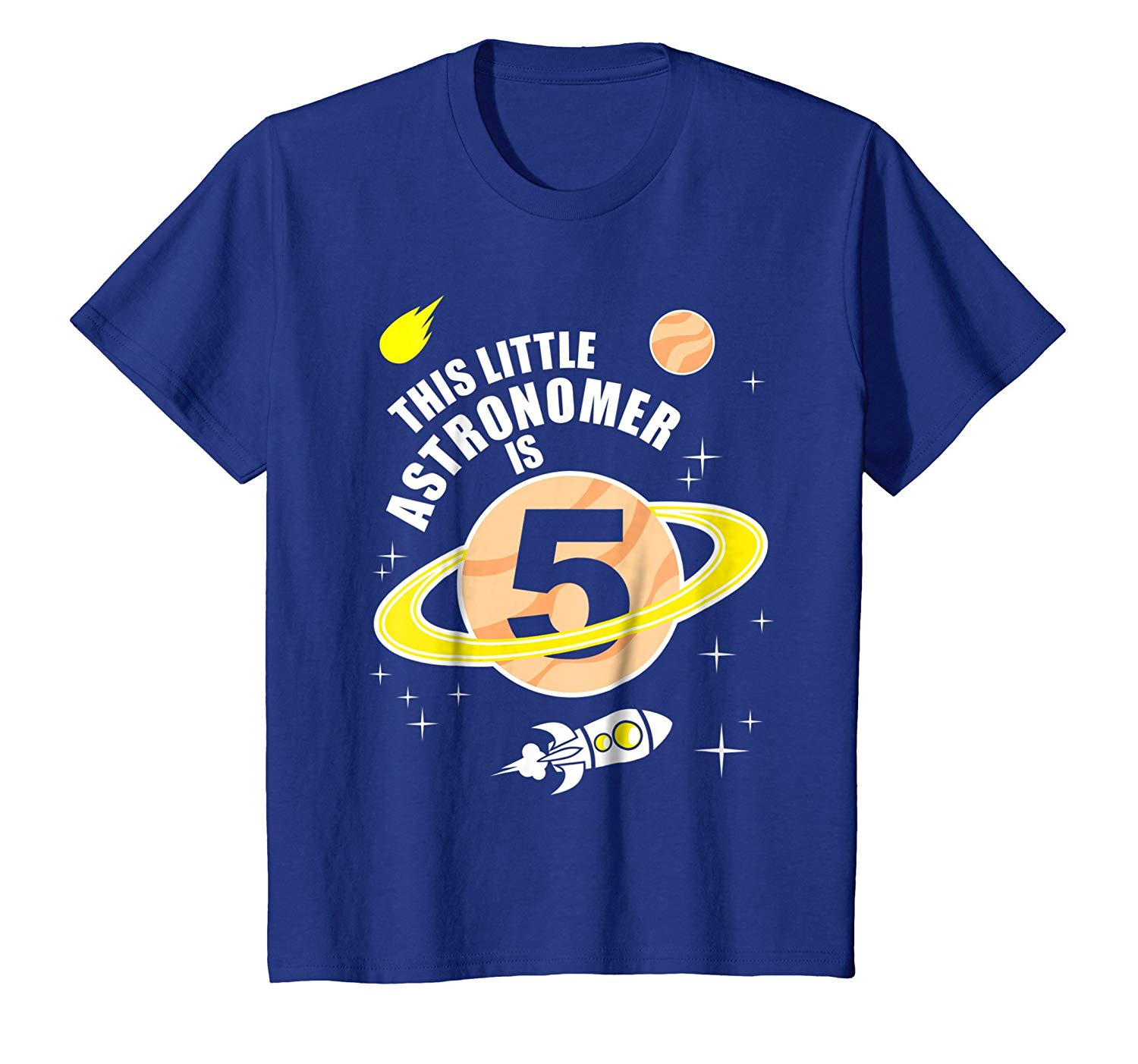 Get Quotations Kids 5th Birthday Boys Astronomy T Shirt Space 5 Year Old