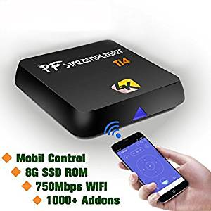 Android TV Box [2016 New Model] Pigflytech Ti4 Advance Quad Core 2GB/8GB/4K/S912/802AC Android TV Box & Game Palyer with PF Streaming Media Center Fully Unlocked Internet Streaming Media Player