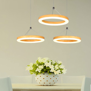 Modern Sample Three Ring LED Pendant Light Lamp Shade Rings Acrylic Hanging Light Suspension Light Fixture