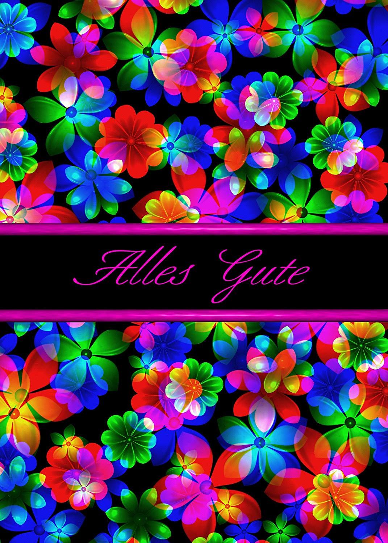 German Birthday (Alles Gute ) 3D Flowers Greeting Card (1)