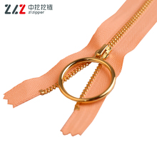 No.3 Shiny Gold Square Teeth Closed end Metal Zipper for bags