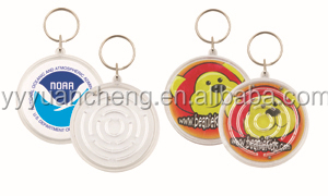 Colorful maze for children with keychain