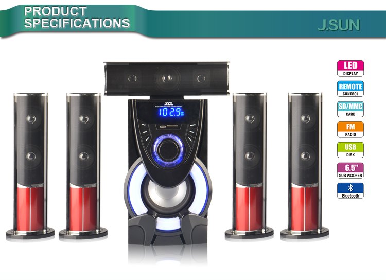 home theater wireless speakers. new products 5.1 wireless speakers surround home theater from j.sun