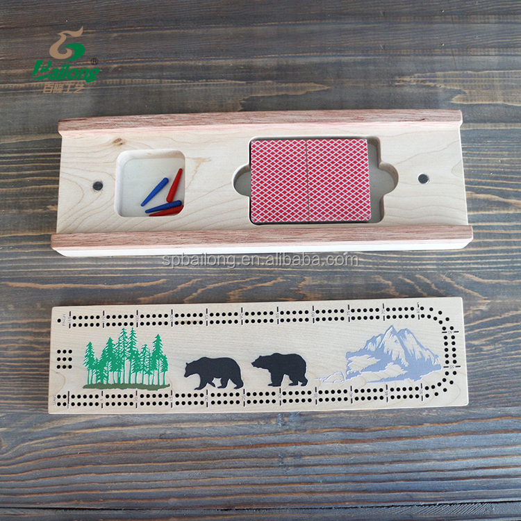 Professional factory kids adult gift score wooden cribbage board