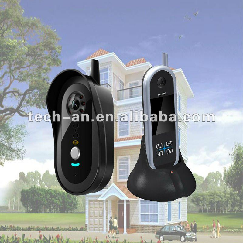 Wireless Color Security System Video Audio Door Phone