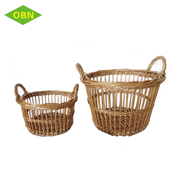 Hot sell small willow woven empty gift basket