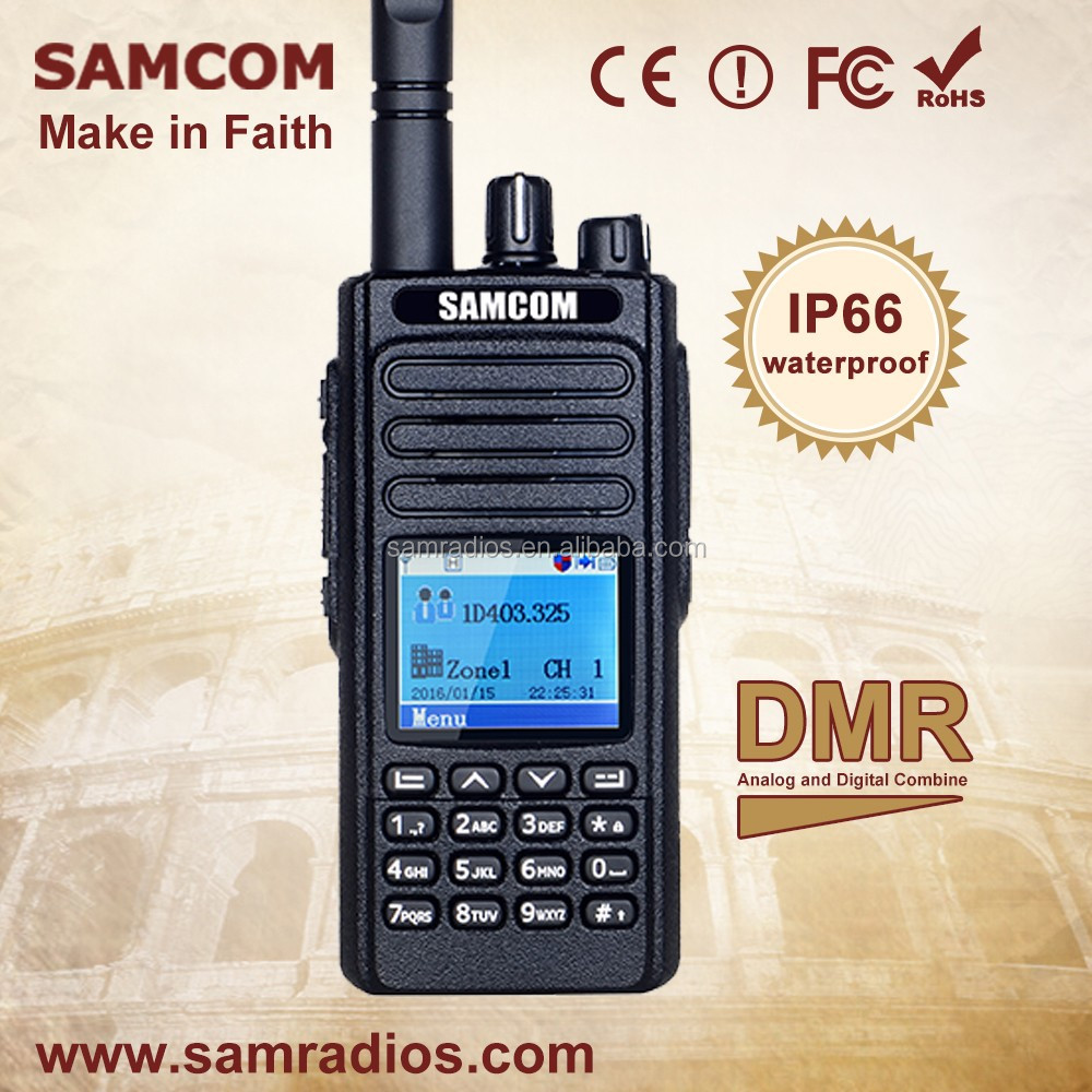 SAMCOM DP-20 IP67 Waterproof Vhf/Uhf Walkie Talkie