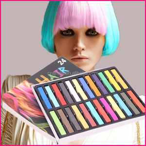 High Quality Passed EN71-3 Colorful soft hair chalk temporary pastel hair colour HCS-012