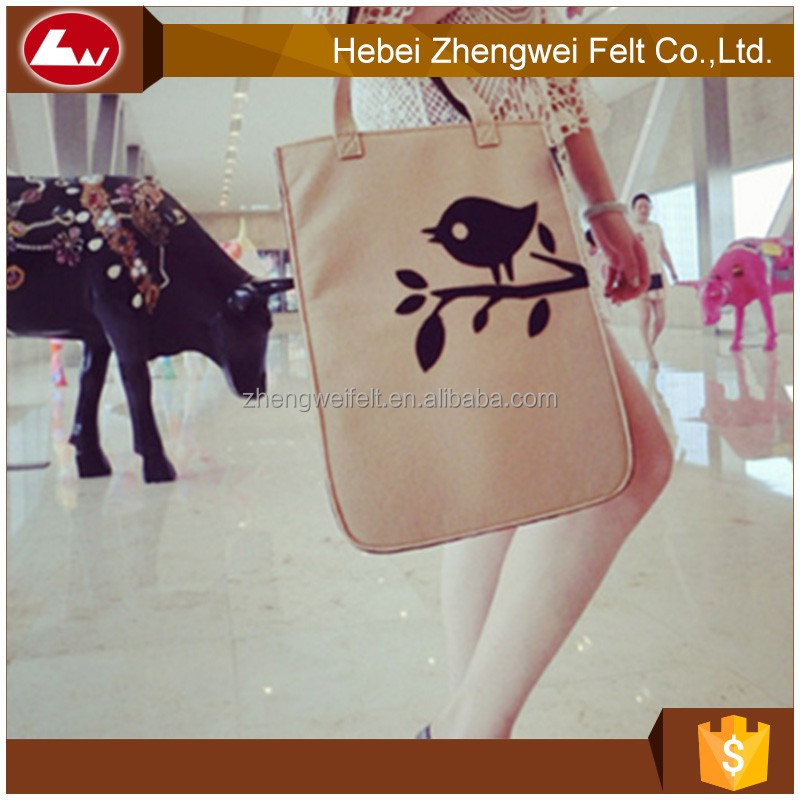 new style hot selling felt bag reused felt bags on sale
