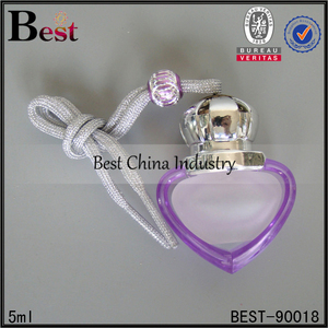 hot selling mini heart shape refill key chain perfume atomizer spray bottle 5ml