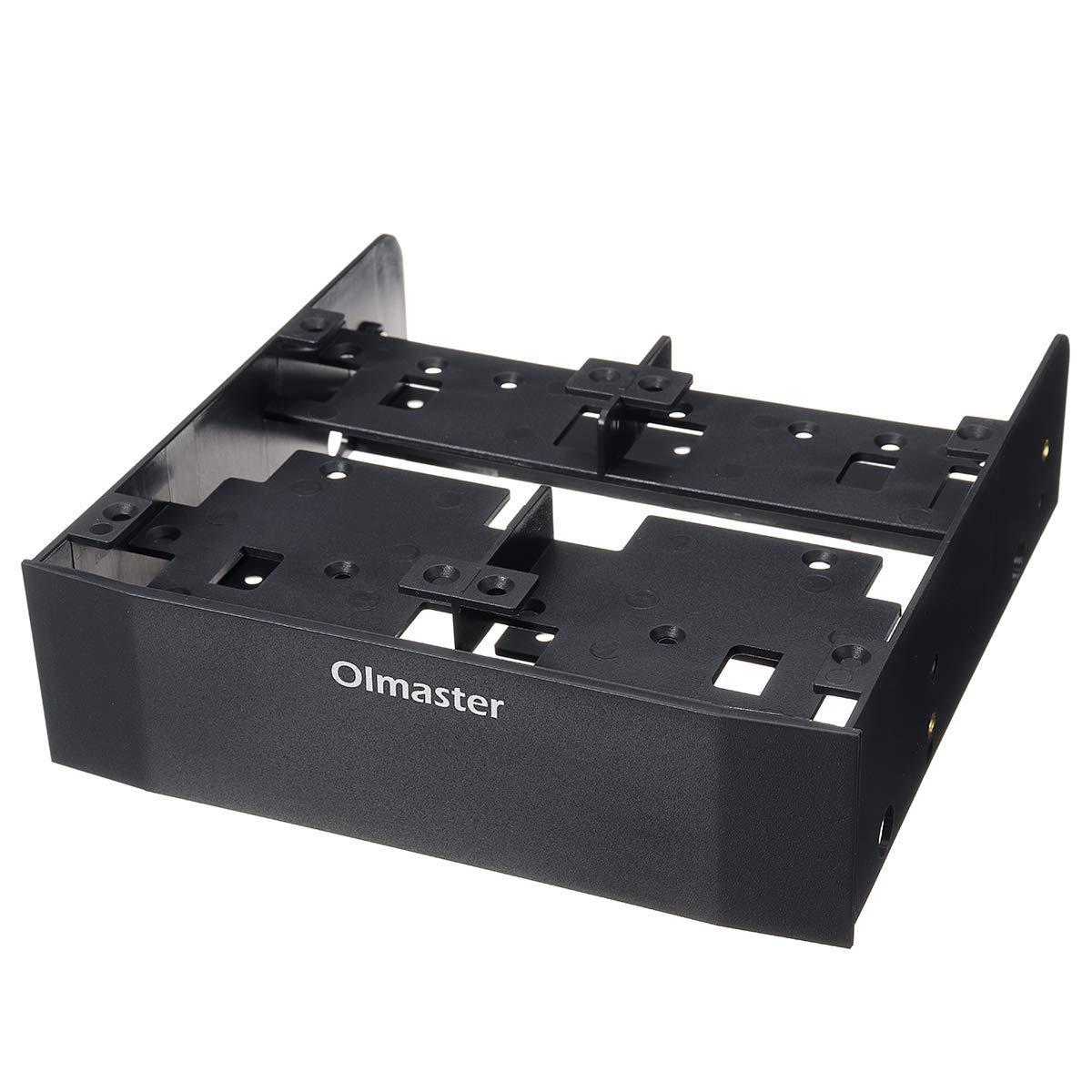 "Ochoos 5.25"" to 3.5"" Optical Drive Bay HDD Hard Drive Mounting Bracket Converter"