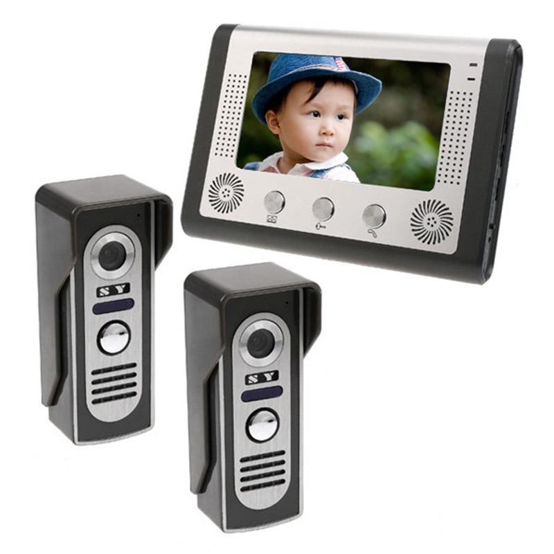7 inch TFT kleur video deurbel intercom kit voor villa