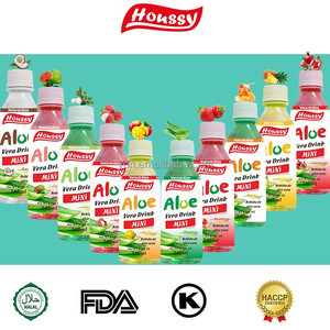 Houssy 240ml Natural Aloe Vera Drink With Fruit Pulp Beverage