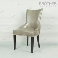 New design vintage hotel upholstered PU leather dining room chair