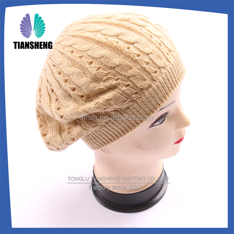 Acrylic Winter Knitted beret cap