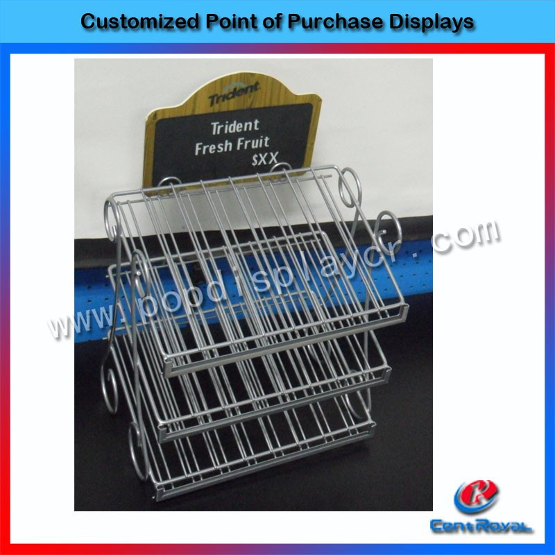 2017 fashion powder coating metal display stands nail polish rack