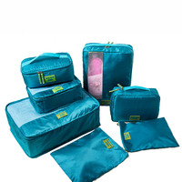 Clothing storage set 7 Pcs Luggage Packing Organizers Set Multipurpose Waterproof Packing Cubes travel Set