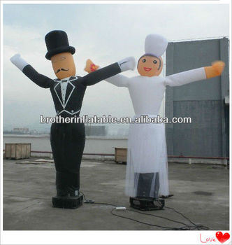 Wedding Decoration Figure Inflatable Bride and Groom