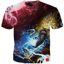 YOUTHUP 2020 Harajuku новые 3D футболки для мужчин принт Dragon Ball Z футболка летние повседневные топы Goku забавная аниме футболка мужская плюс размер(Китай)