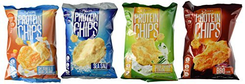 Quest Nutrition Protein Chips, Variety Pack Including BBQ, Sea Salt, Cheddar & Sour Cream, & Sour Cream & Onion, 8 Bags