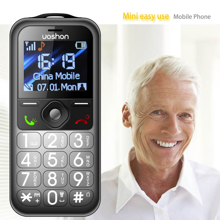 CE and RoHS large keypad cell phones old age mobile phone with long battery and flashlight