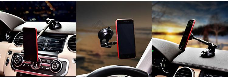 SJ-Y-075 universal magnetic car dashboard phone holder 360 rotationa mount