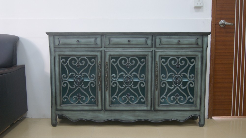 american style blue farbe durchbrochene shabby chic kommode holztisch produkt id 100000725419. Black Bedroom Furniture Sets. Home Design Ideas