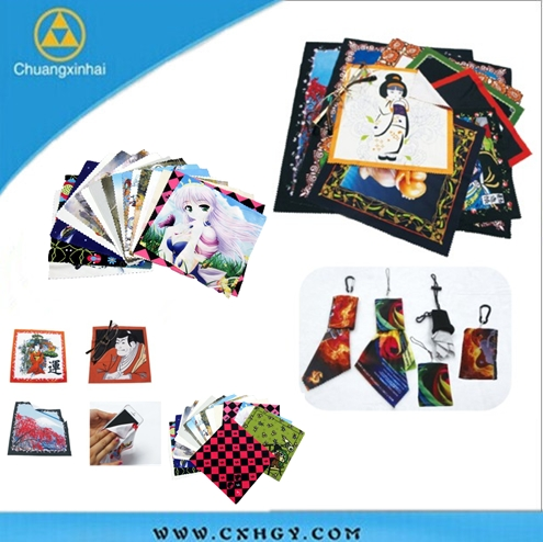 Chinese manufacturer sublimation printing microfiber cloth print