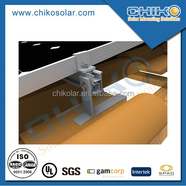 Anodized aluminium 2kw roman tile solar panel mount with roof hook