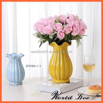 Dztc005 1 Y Modern Ceramic Tall Floor Standing Vases For Hotel Buy