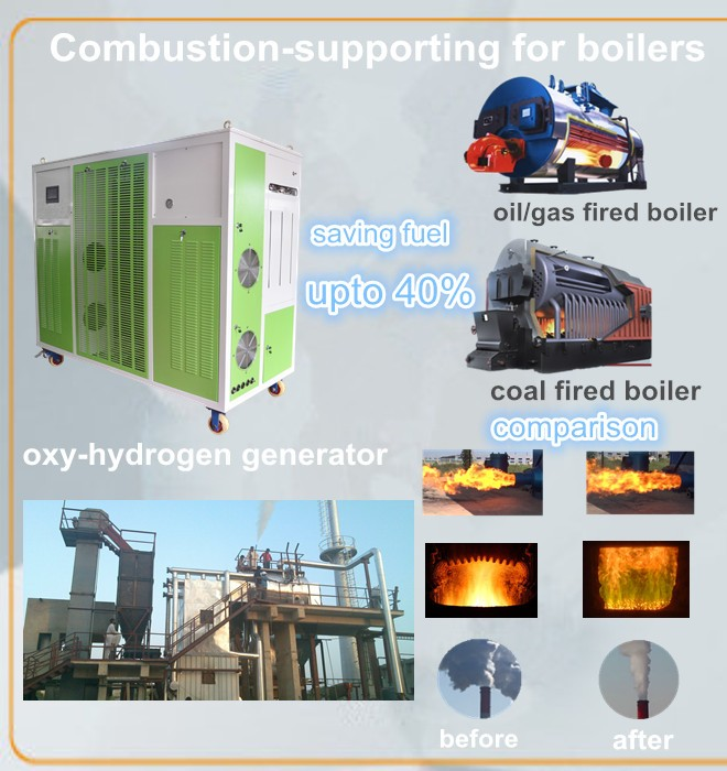 combustion chamber for sufficient burning hho generator for burner in boilers