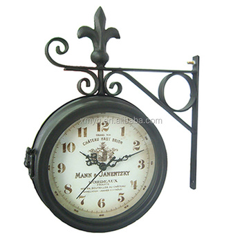 home decoration garden clock large antique double sided wall clocks for sale