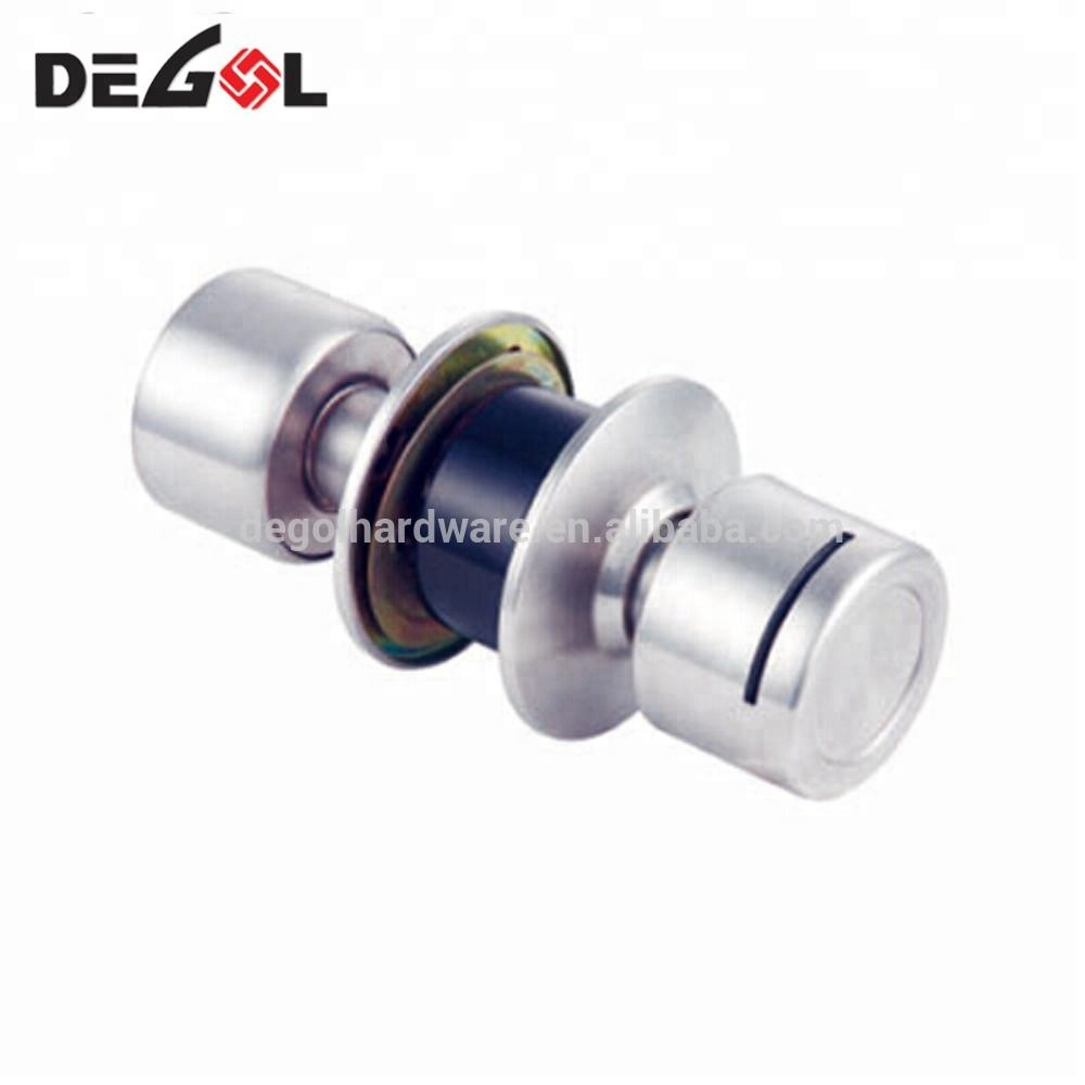 Wholesale stainless steel double sided cylindrical magnetic card hotel door knob locks