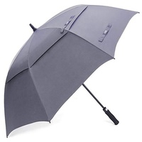 Golf umbrella double canopy custom logo durable windproof golf umbrella