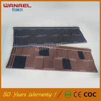 Guangzhou roofing materials Wanael Shingle Anti-uv stone coated Oriental Color Steel Roof Tile