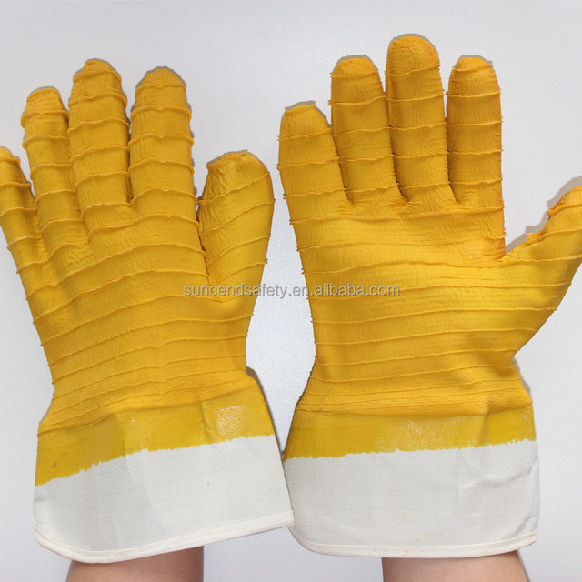 Industry Agriculture Gardening latex dipped Hand Job Gloves