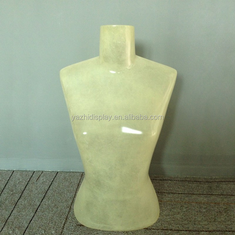 Transparent Upper Body Model Female Mannequin On Sale