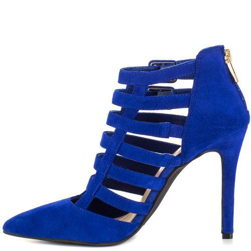 deefba0ffb09 Get Quotations · Women Shoes 2015 Hot Blue Buckle Zipper Thin Heel Flock  Pointed Toe At Heel Summer Nubuck