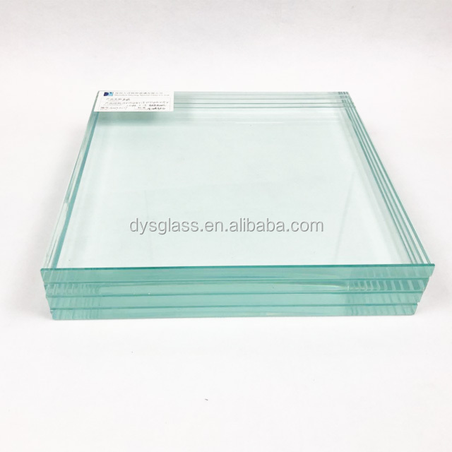 6.38mm 10.38mm 16.76mm clear laminated glass with PVB Film in China