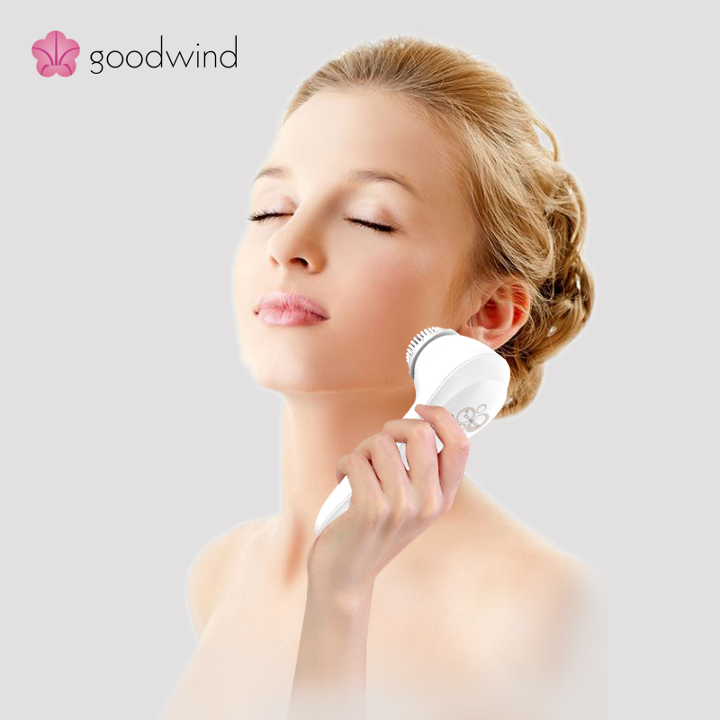 Multi-functional two heads bright smooth and clean skin facial brush