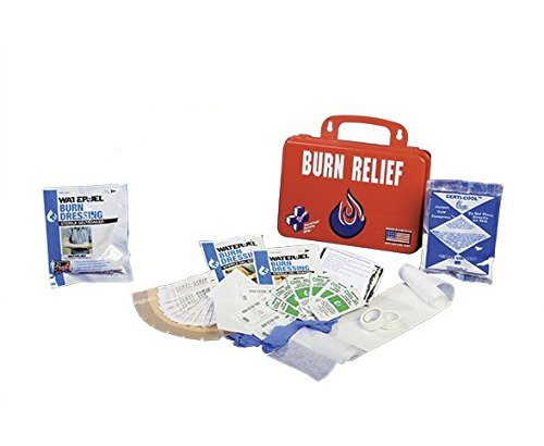Certified Safety K612-162 18PR Burn Relief First Aid Kit, Poly Red