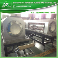 Hdpe tubing extrusion line oversea service hdpe pipe production line