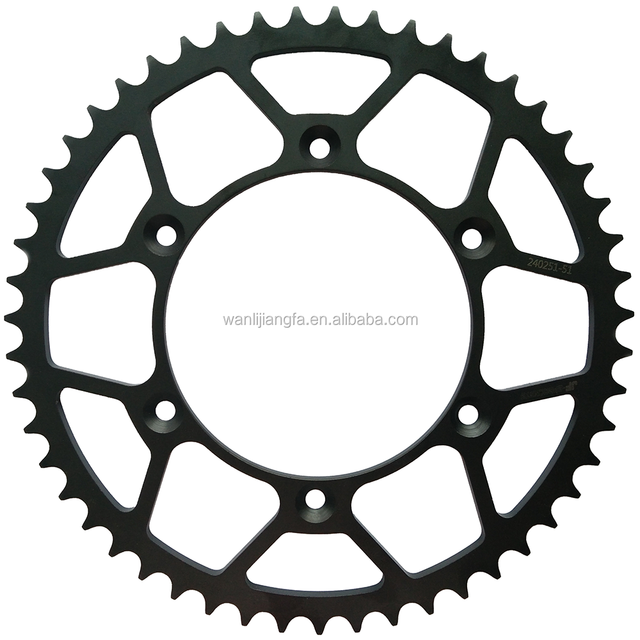 High Quality CNC Steel Rear Motorcycle Sprocket Chainwheel #520 51T