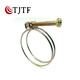 Wire pipe clips stainless steel double wire hose clamp