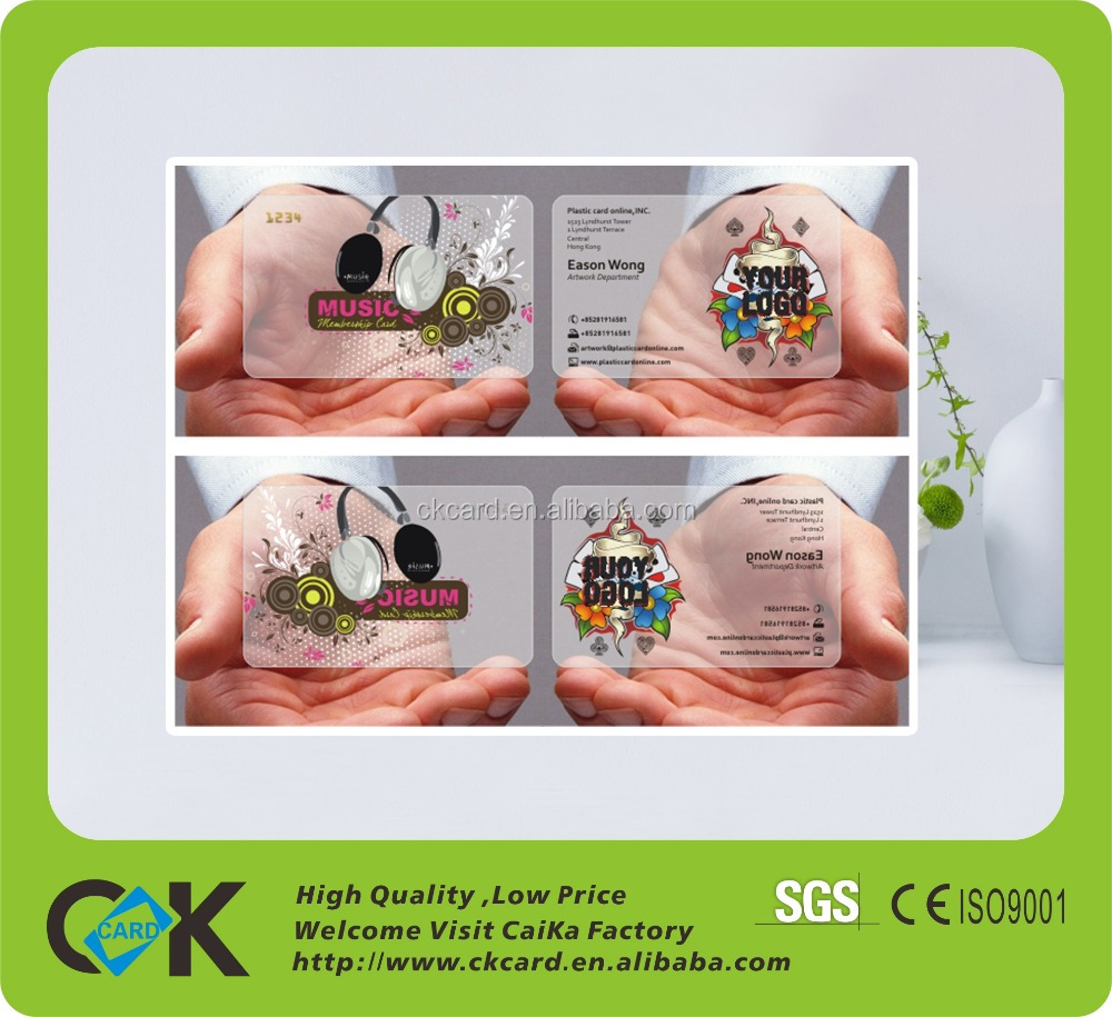 Transparent Business Cards Price Choice Image - Card Design And ...