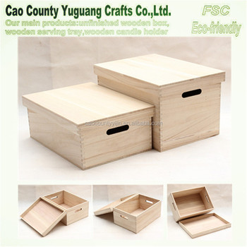 Unfinished Wood Shoe Box With LidWood Remote Storage BoxStand Up
