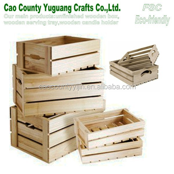 Cheap Wooden Fruit Crates For Sale