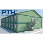 China supplier prefab steel residential house frames with thin wall steel military camp